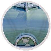 1954 Oldsmobile Super 88 Hood Ornament Round Beach Towel by Jill Reger