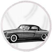 1954 Studebaker Skyliner Round Beach Towel
