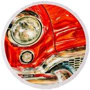 1955 Buick Century Round Beach Towel