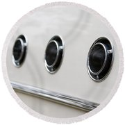 1955 Buick Special Air Vents Round Beach Towel