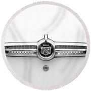 1955 Buick Special Rear Emblem Round Beach Towel