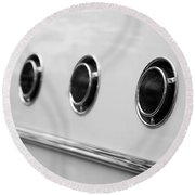 1955 Buick Special Side Air Vents Round Beach Towel