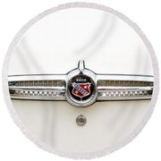 1955 Buick Special Tail Emblem Round Beach Towel