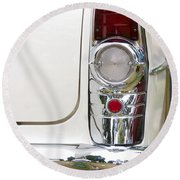 1955 Buick Special Tail Light Round Beach Towel