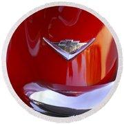 1955 Chevrolet Belair Nomad Emblem Round Beach Towel