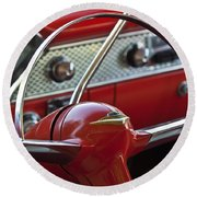 1955 Chevrolet Belair Nomad Steering Wheel Round Beach Towel