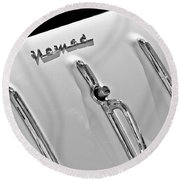 1955 Chevrolet Belair Nomad Tailgate Emblem Round Beach Towel