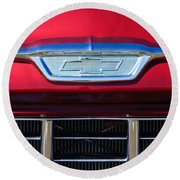1955 Chevrolet Pickup Truck Grille Emblem Round Beach Towel