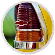 1955 Chevrolet Taillight Emblem Round Beach Towel