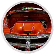 1955 Chevrolet Truck-american Classics-front View Round Beach Towel