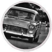 1955 Chevy Bel Air Round Beach Towel