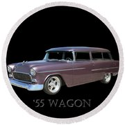 1955 Chevy Handyman Wagon Round Beach Towel