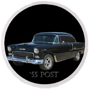 1955 Chevy Post Round Beach Towel