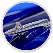 1955 Desoto Hood Ornament 3 Round Beach Towel