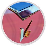 1955 Dodge Royal Lancer V8 Emblem -0639c Round Beach Towel