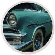 1953 Ford Crestline Round Beach Towel