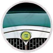 1955 Lancia Aurelia B24 Spyder America Roadster Grille Emblem Round Beach Towel