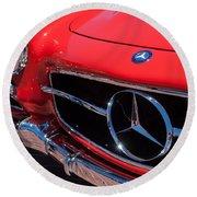 1955 Mercedes-benz 300sl Gullwing Grille Emblems Round Beach Towel