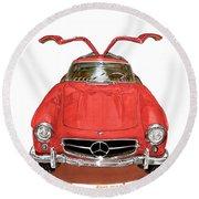 1955 Mercedes Benz 300 S L  Round Beach Towel