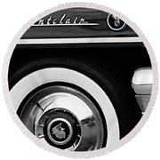 1955 Mercury Montclair Convertible Wheel Emblem Round Beach Towel