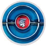 1955 Mercury Monterey  Emblem Round Beach Towel