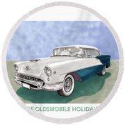 1955 Oldsmobile Holiday 88 Round Beach Towel