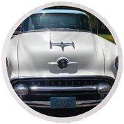 1955 Oldsmobile Ninety-eight Round Beach Towel