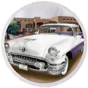 1955 Oldsmobile Super 88 Round Beach Towel