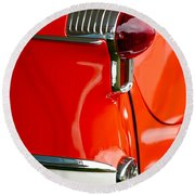 1955 Oldsmobile Taillight Round Beach Towel by Jill Reger