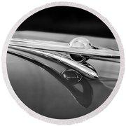 1955 Packard Clipper Hood Ornament 5 Round Beach Towel