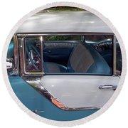 1955 Pontiac Star Chief Round Beach Towel