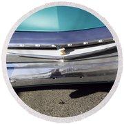 1955 Studebaker Coupe 2 Round Beach Towel