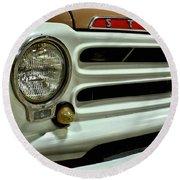 1955 Studebaker Headlight Grill Round Beach Towel