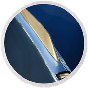 1955 Studebaker President Hood Emblem Round Beach Towel by Jill Reger