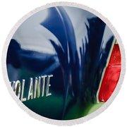 1956 Aston Martin Short Chassis Volante Taillight Emblem Round Beach Towel