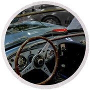 1956 Austin Healey Interior Round Beach Towel