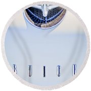 1956 Buick Special Hood Ornament Round Beach Towel