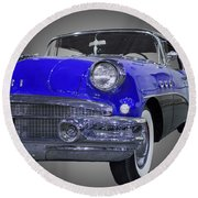1956 Buick Special Riviera Coupe-blue Round Beach Towel