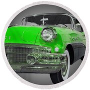 1956 Buick Special Riviera Coupe-green Round Beach Towel