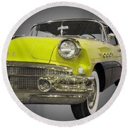 1956 Buick Special Riviera Coupe-yellow Round Beach Towel