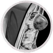 1956 Chevrolet 210 2-door Handyman Wagon Taillight -090bw Round Beach Towel