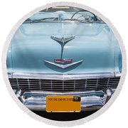 1956 Chevrolet Bel Air Round Beach Towel