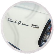 1956 Chevrolet Belair Coupe Taillight Round Beach Towel