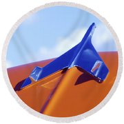 1956 Chevrolet Belair Hood Ornament Round Beach Towel