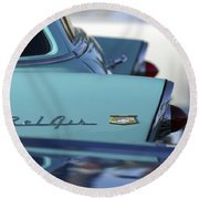 1956 Chevrolet Belair Nomad Rear End Round Beach Towel