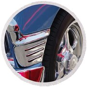 1956 Chevrolet Handyman Wagon Wheel -179c Round Beach Towel
