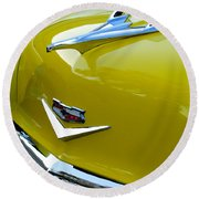 1956 Chevrolet Hood Ornament 3 Round Beach Towel