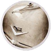 1956 Chevrolet Hood Ornament - Emblem Round Beach Towel