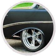 1956 Chevrolet Rear Emblem Round Beach Towel