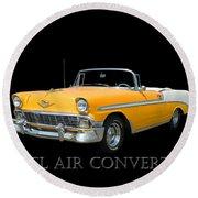 1956 Chevy Bel Air Convertible Round Beach Towel